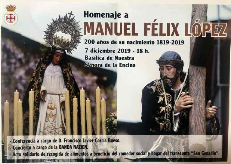 Cartel del 200 aniversario de Manuel Félix López